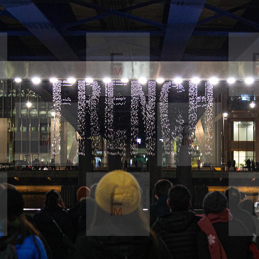 L'annuale edizione del festival delle luci a Canary Wharf, una mostra all'aperto di installazioni luminose.<br /> <br /> The yearly edition of the lights festival in Canary Wharf, an open-air exhibition of light installations.