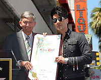 Leron Gubler &amp; Criss Angel at the Hollywood Walk of Fame Star Ceremony honoring illusionist Criss Angel. Hollywood Boulevard, Los Angeles, USA 20 July 2017<br /> Picture: Paul Smith/Featureflash/SilverHub 0208 004 5359 sales@silverhubmedia.com