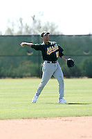 Mike Gilmartin, Oakland Athletics 2010 minor league spring training..Photo by:  Bill Mitchell/Four Seam Images.