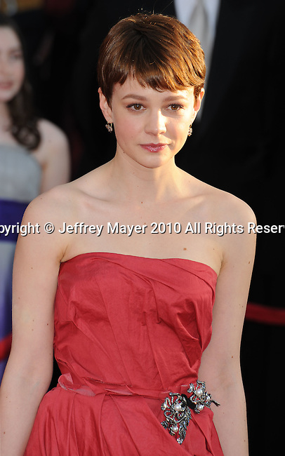 LOS ANGELES, CA. - January 23: Carey Mulligan arrives at the 16th Annual Screen Actors Guild Awards held at The Shrine Auditorium on January 23, 2010 in Los Angeles, California.