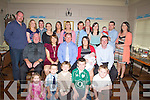 CHRISTENING: On Sunday Eoin Collins from Rathmore was christened in Knocknagree Church and afterwards his parents Pat and Triona Collins with family and friends went to O'Riadas Bar & Restaurant, Ballymacelligott on Sunday to celebrate the special day. Front kneeling: Kaylee and David O'Leary, Luke,Sean and Darby Collins. Seated l-r: Charles Cronin, Catriona,Pat,Triona and Eoin Collins and Jeremiah Cronin. Back l-r: John Collins, Louise O'Connor, Paudie O'Keeffe, Hannah O'Sullivan, Fiona Cronin, Theresa Collins, Eddie Sheehan, Theresa Collins, Neila Cronin, Alan,Aeneas and Maeve O'Leary.