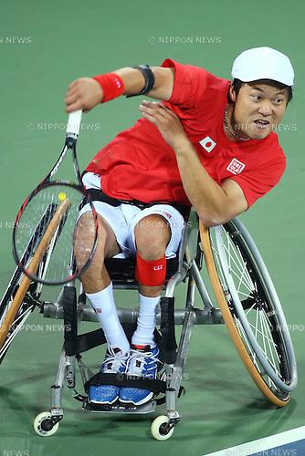 Shingo Kunieda (JPN),<br /> OCTOBER 23, 2014 -  WheelChair Tennis : <br /> Men's Singles Final<br /> at Yeorumul Tennis Courts<br /> during the 2014 Incheon Asian Para Games <br /> in Incheon, South Korea. <br /> (Photo by Shingo Ito/AFLO SPORT)