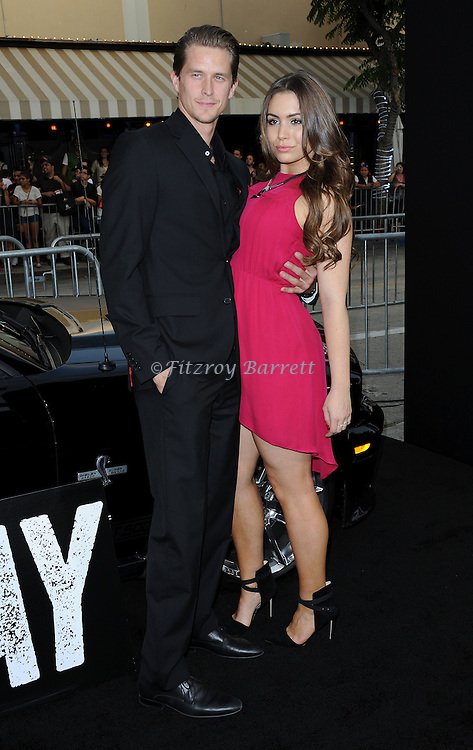 Sophie Simmons and date at the Los Angels premiere of Getaway held at the Regency Village Theater August 26, 2013