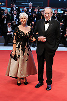 British actress Helen Mirren, left, and Canadian actor Donald Sutherland on the red carpet for the movie 'Ella & John - The Leisure Seeker' at the 74th Venice Film Festival, Venice Lido, September 3, 2017. <br /> UPDATE IMAGES PRESS/Marilla Sicilia<br /> <br /> *** ONLY FRANCE AND GERMANY SALES ***