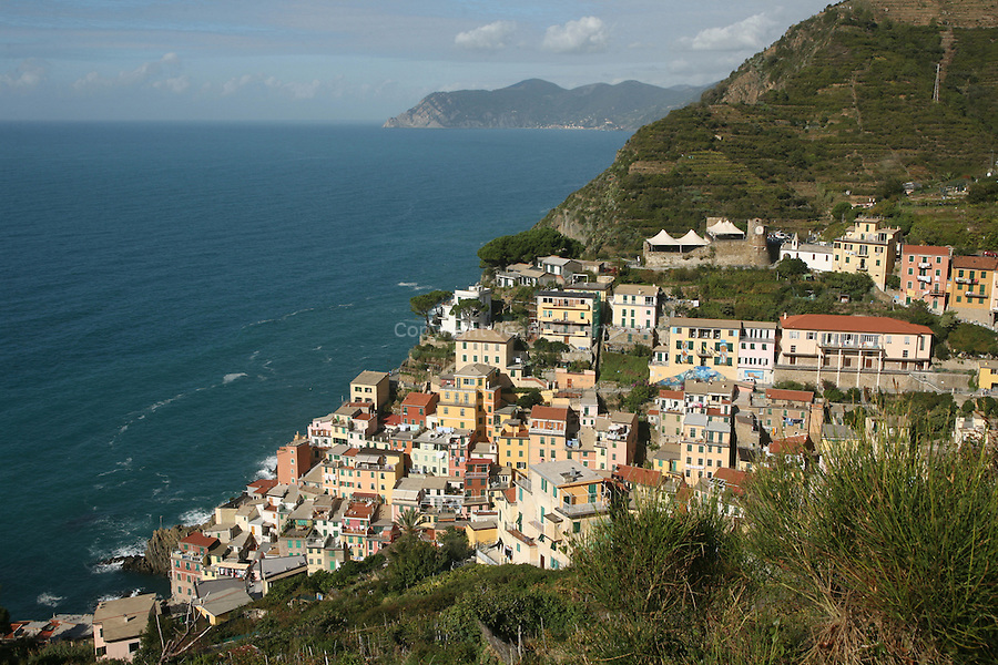 Village de Riomaggiore. Parc national des Cinque Terre. Ligurie. Italie.
