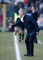 Calcio, Serie A: Bologna vs Juventus, stadio Renato D'Allara, Bologna,17 dicembre 2017.<br /> Bologna' s coach Roberto Donadoni gestures during the Italian Serie A football match between Bologna and Juventus at Bologna's Renato D'Allara stadium, December 17, 2017.<br /> UPDATE IMAGES PRESS/Isabella Bonotto
