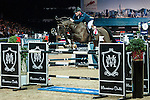 Joe Clee of United Kingdom riding Vedet de Muze E T in action at the Gucci Gold Cup during the Longines Hong Kong Masters 2015 at the AsiaWorld Expo on 14 February 2015 in Hong Kong, China. Photo by Xaume Olleros / Power Sport Images