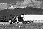 San Francisco Peaks view from US Route 40, Flagstaff, AZ