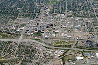 Aerial of downtown Colorado Springs, Colorado. June 2014. 85574