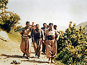 Iraq 21982 <br />  In Zahle, left, Mullazem Omar Abdallah , in front, Jalal Talabani  <br /> Irak 1982  <br /> A gauche, Mullazem Omar Abdallah, devant, Jalal Talabani