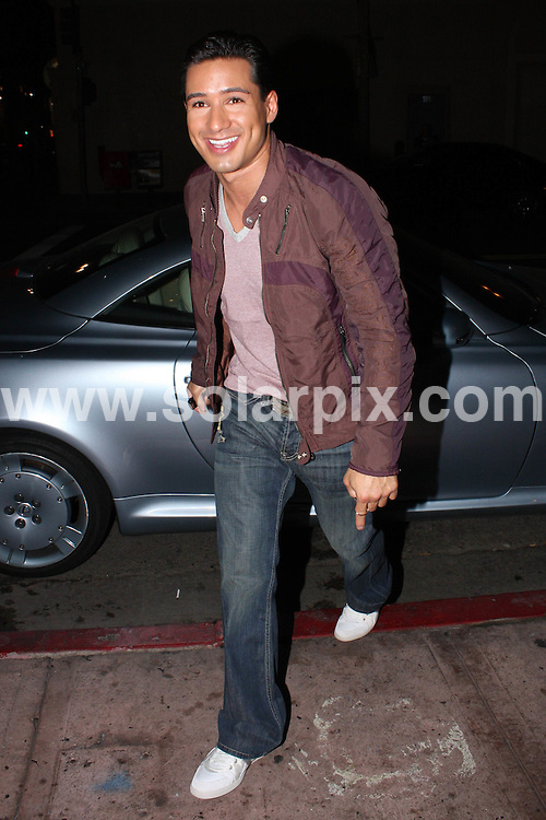 **ALL ROUND PICTURES FROM SOLARPIX.COM**.**WORLDWIDE SYNDICATION RIGHTS**.**NO PUBLICATION IN AUSTRALIA, DENMARK, GERMANY, NEW ZEALAND, OR USA**.Mario Lopez and girlfriend enjoy a late night dinner at Beso Restaurant in Hollywood, California, USA. 28th August 2008..This pic: Mario Lopez..JOB REF: 7172 LAP (HDG)      DATE: 28_08_2008.**MUST CREDIT SOLARPIX.COM OR DOUBLE FEE WILL BE CHARGED* *UNDER NO CIRCUMSTANCES IS THIS IMAGE TO BE REPRODUCED FOR ANY ONLINE EDITION WITHOUT PRIOR PERMISSION*