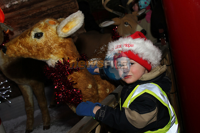 Tom Healy at the Arrival of Santa and the turning on of the Christmas Lights in Dunleer...(Photo credit should read Jenny Matthews www.newsfile.ie)....This Picture has been sent you under the conditions enclosed by:.Newsfile Ltd..The Studio,.Millmount Abbey,.Drogheda,.Co Meath..Ireland..Tel: +353(0)41-9871240.Fax: +353(0)41-9871260.GSM: +353(0)86-2500958.email: pictures@newsfile.ie.www.newsfile.ie.