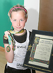 Zoe Kavanagh with her Leinster and All Ireland Medals at Drogheda Boxing Club...Photo NEWSFILE/Jenny Matthews.(Photo credit should read Jenny Matthews/NEWSFILE)....This Picture has been sent you under the condtions enclosed by:.Newsfile Ltd..The Studio,.Millmount Abbey,.Drogheda,.Co Meath..Ireland..Tel: +353(0)41-9871240.Fax: +353(0)41-9871260.GSM: +353(0)86-2500958.email: pictures@newsfile.ie.www.newsfile.ie.FTP: 193.120.102.198.