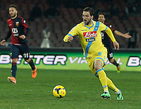 Gonzalo Higuain n  in action during the Italian Serie A soccer match between SSC Napoli and Genoa CFC   at San Paolo stadium in Naples, Feburary 24 , 2014
