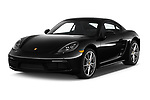 2019 Porsche 718 Cayman Base 2 Door Coupe angular front stock photos of front three quarter view