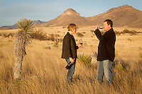 1/2/2011-Todd Bostock and Kelly Bostock of Dos Cabezas Wineworks in the high desert in Sonoita, Arizona. (Photo by Pat Shannahan)