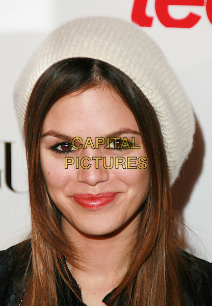 RACHEL BILSON.Teen Vogue Young Hollywood Issue Party held at Sunset Tower Hotel, West Hollywood, California, USA..September 20th, 2006.Ref: ADM/CH.headshot portrait white hat.www.capitalpictures.com.sales@capitalpictures.com.©AdMedia/Capital Pictures.