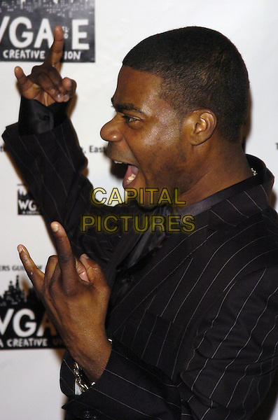TRACY MORGAN.59th Annual Writers Guild Awards at the Hudson Theater, New York, New York ,USA..February 11th, 2007.half length black top hands profile hands gesture mouth open.CAP/ADM/BL.©Bill Lyons/AdMedia/Capital Pictures *** Local Caption ***