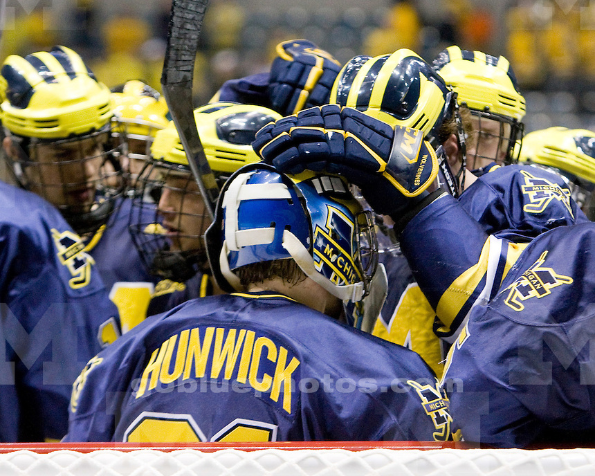 University of Michigan 5-1 victory over Bemidji State University in the NCAA Midwest Regional semi-final game at Allen County War Memorial Coliseum in Fort Wayne, Indiana on 3/27/10.