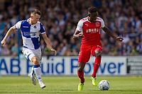 Devante Cole of Fleetwood Town gets away from Ollie Clarke of Bristol Rovers during the Sky Bet League 1 match between Bristol Rovers and Fleetwood Town at the Memorial Stadium, Bristol, England on 26 August 2017. Photo by Mark  Hawkins.