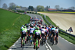The peloton approaching Saint-Quentin during the 115th edition of the Paris-Roubaix 2017 race running 257km Compiegne to Roubaix, France. 9th April 2017.<br /> Picture: ASO/P.Ballet | Cyclefile<br /> <br /> <br /> All photos usage must carry mandatory copyright credit (&copy; Cyclefile | ASO/P.Ballet)