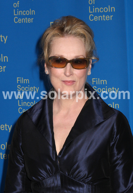 **ALL ROUND PICTURES FROM SOLARPIX.COM**.**SYNDICATION RIGHTS FOR UK, SPAIN, PORTUGAL, AUSTRALIA, S.AFRICA & DUBAI (U.A.E) ONLY**.The 35th Annual Film Society of Lincoln Center Gala Tribute to Meryl Streep at the Green Room in Avery Fisher Hall in New York  USA  .This pic:Meryl Streep.JOB REF:6143-PHZ/Janet Mayer          DATE:14_04_08 .**MUST CREDIT SOLARPIX.COM OR DOUBLE FEE WILL BE CHARGED* *UNDER NO CIRCUMSTANCES IS THIS IMAGE TO BE REPRODUCED FOR ANY ONLINE EDITION WITHOUT PRIOR PERMISSION*