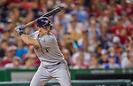 22 August 2015: Milwaukee Brewers third baseman Hernan Perez in action against the Washington Nationals at Nationals Park in Washington, DC. The Nationals defeated the Brewers 6-1 in the second game of their 3-game weekend series. Mandatory Credit: Ed Wolfstein Photo *** RAW (NEF) Image File Available ***