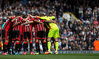 The Bournemouth team huddle ahead of the Premier League match between Tottenham Hotspur and Bournemouth at White Hart Lane, London, England on 15 April 2017. Photo by Mark  Hawkins / PRiME Media Images.
