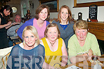 BIRTHDAY GIRL: Ita Greaney, Annagh, Tralee (seated centre) celebrated her birthday last Friday night in Bella Bia restaurant, Tralee along with some friends, seated l-r: Michelle and Ita Greaney with Marie Sheehan(back)L-R Orla Barrero and Joan Crowley.