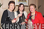 Pictured at the Lee Strand Social on Saturday night held In Ballygarry House Hotel and Spa were l-r: Mary Crosby (Limerick) Anne O'Leary (Killarney) and Sheila Fitzgeald (Ballymac).