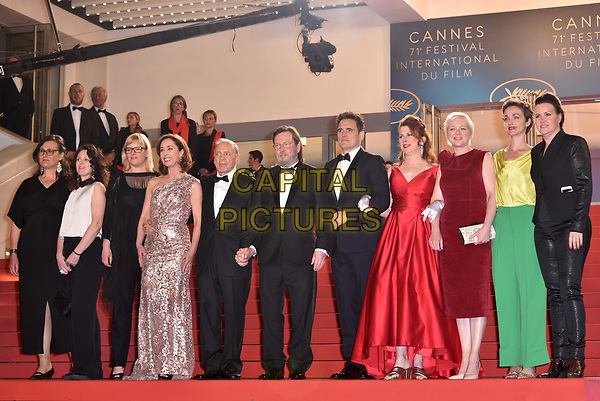 CANNES, FRANCE - MAY 14: Producer Bettina Brokemper , Actor Bruno Ganz, director Lars von Trier, actor Matt Dillon, actress Siobhan Fallon Hogan , Marianne Slot and Louise Vesth attend the screening of 'The House That Jack Built' during the 71st annual Cannes Film Festival at Palais des Festivals on May 14, 2018 in Cannes, France.<br /> CAP/PL<br /> &copy;Phil Loftus/Capital Pictures