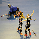 Christopher RUEHR #17 of Germany celebrates another goal during the FIH Indoor Hockey World Cup semi-final match between Germany (black) and Iran (white) on February 10, 2018 at Max-Schmeling-Halle in Berlin, Germany. Final score 6-2. (Photo by Dirk Markgraf / www.265-images.com) <br /> <br /> #Berlin #HeimWM #FIH #FIHockey #IHWC2018 #Honamas @_honamas_ #Deutschland #WirfuerD @dhb_hockey @real_markt @reece_australia @vapiano_germany @jcruehr17