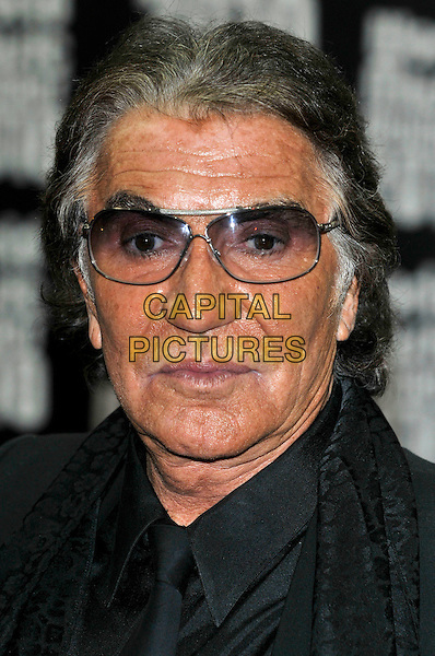 ROBERTO CAVALLI.World Music Awards 2010 at the Sporting Club Monte Carlo, Monaco.May 18th, 2010 .headshot portrait black tinted glasses sunglasses shades .CAP/PL.©Phil Loftus/Capital Pictures.