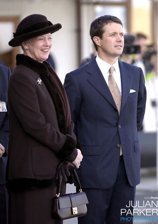 Arrival at Copenhagen Airport during the State Visit of H.E Mr Ion Iliescu, The President of Romania. Queen Margrethe II & Crown Prince Frederik attend..