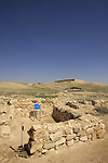 Israel, Negev. The Cult Basin at the Sacred Precint of the lower city in Tel Arad