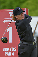 Lorie Kane (USA) watches her tee shot on 1 during round 1 of  the Volunteers of America LPGA Texas Classic, at the Old American Golf Club in The Colony, Texas, USA. 5/4/2018.<br /> Picture: Golffile | Ken Murray<br /> <br /> <br /> All photo usage must carry mandatory copyright credit (&copy; Golffile | Ken Murray)