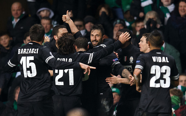 Mirko Vucinic takes the acclaim for the third Juventus goal
