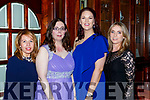 Karen O'Mahony, Helena O'Connor, Siobhain O'Leary and Margo Kenny at the Castleisland Hospice dinner dance in the River Island Hotel on Saturday night
