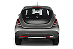 Straight rear view of 2019 Lancia Ypsilon Gold 5 Door Hatchback Rear View  stock images