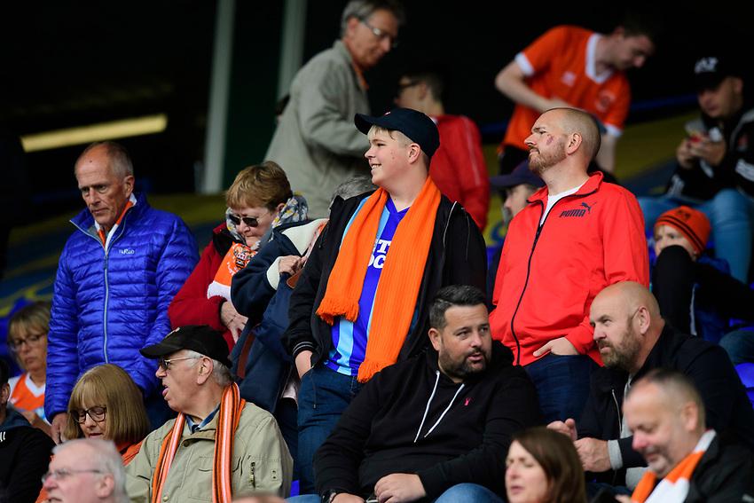 Blackpool fans enjoy the pre-match atmosphere<br /> <br /> Photographer Chris Vaughan/CameraSport<br /> <br /> The EFL Sky Bet League One - Coventry City v Blackpool - Saturday 7th September 2019 - St Andrew's - Birmingham<br /> <br /> World Copyright © 2019 CameraSport. All rights reserved. 43 Linden Ave. Countesthorpe. Leicester. England. LE8 5PG - Tel: +44 (0) 116 277 4147 - admin@camerasport.com - www.camerasport.com
