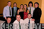 Rugby: Pictured on Saturday night at Listowel Rudgby Clubs Social in The Listowel Arms Hotel are: Front l-r: David Sheehan, Aidan Mulvihill, Ogie Horgan. Back l-r: John Joe Nagle, Paul Collins, Emma Collins, Marie Boland Liam O'Connor, Michael Long..