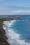 Ile Kangourou au sud d'Adelaide.Route de la baie Weirs entre le phare et les Remarkable Rocks.