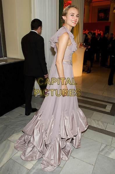DIANE KRUGER .Cinema for Peace 2009, Konzerthaus, Gendarmenmarkt, Berlin, Germany..February 9th, 2009.full length dress gown looking over shoulder train silk satin purple pleats pleated ruffed ruffles lilac pink.CAP/PPG/JH.©Jens Hartmann/People Picture/Capital Picturess