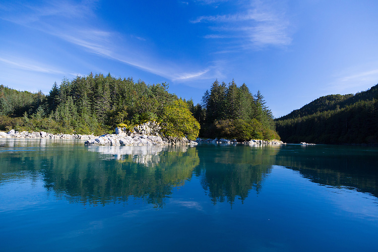 A peaceful and calm day in the Inian Islands in Alaska's Inside Passage, Alaska, USA