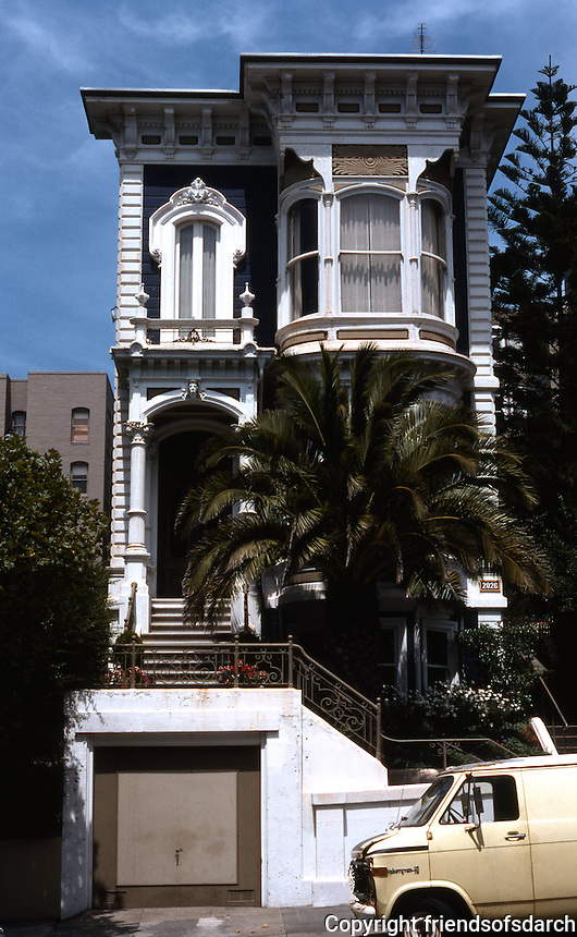 San Francisco: House, California Street. Italianate, 1870's.  Photo '78.