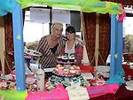 Orla O'Connor and Aimee Kelledy from Orín Cupcakes and Flowers at The Taste of Togher festival held in the Linn Duachaill Restaurant at the Glyde Inn Annagassan. Photo:Colin Bell/pressphotos.ie