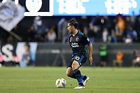 San Jose, CA - Saturday September 15, 2018: Jahmir Hyka during a Major League Soccer (MLS) match between the San Jose Earthquakes and Sporting Kansas City at Avaya Stadium.