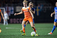 Allston, MA - Wednesday Aug. 31, 2016: Morgan Brian, Louise Schillgard during a regular season National Women's Soccer League (NWSL) match between the Boston Breakers and the Houston Dash at Jordan Field.