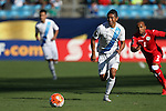 15 July 2015: Carlos Mejia (GUA) (6). The Cuba Men's National Team played the Guatemala Men's National Team at Bank of America Stadium in Charlotte, NC in a 2015 CONCACAF Gold Cup Group C match. Cuba won the game 1-0 and advanced to the quarterfinals.