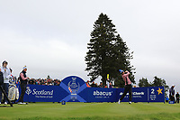 Anne Van Dam of Team Europe on the 2nd tee during Day 2 Fourball at the Solheim Cup 2019, Gleneagles Golf CLub, Auchterarder, Perthshire, Scotland. 14/09/2019.<br /> Picture Thos Caffrey / Golffile.ie<br /> <br /> All photo usage must carry mandatory copyright credit (© Golffile | Thos Caffrey)